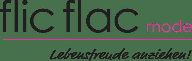 Logo von flic flac mode in schwarz-pink