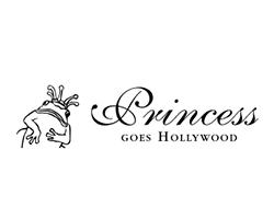Logo von Princess goes Hollywood mit dem Frosch als Markenzeichen